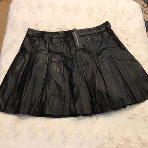 NWT leather skater skirt